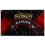 "3rd Ranger Battalion Tabbed Scroll Flag Elite Flags Wall Flag - 36""x60"""