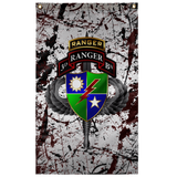 "3rd Ranger Battalion Tabbed Splatter Flag Elite Flags Wall Flag - 36""x60"""