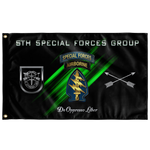 "5th Special Forces Group (Legacy) Flag Elite Flags Wall Flag - 36""x60"""