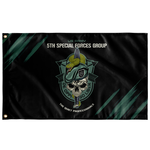 "5th Special Forces Group (Legacy) Snake Eaters Flag Elite Flags Wall Flag - 36""x60"""