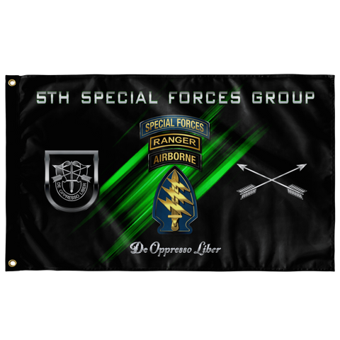 "5th Special Forces Group Tabbed  (Legacy) Flag Elite Flags Wall Flag - 36""x60"""