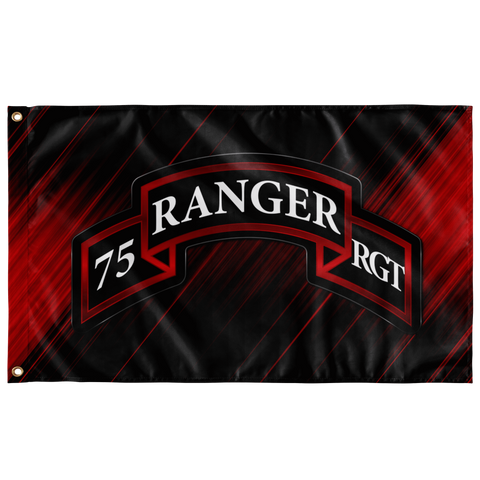 "75th Ranger Regiment Scroll Flag Elite Flags Wall Flag - 36""x60"""