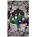"75th Ranger Regiment Splatter Flag Elite Flags Wall Flag - 36""x60"""