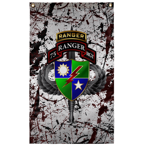 "75th Ranger Regiment Tabbed Splatter Flag Elite Flags Wall Flag - 36""x60"""