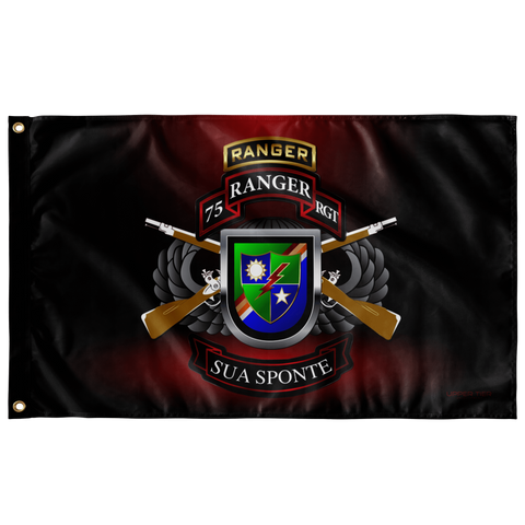 "75th Ranger Regiment Tabbed Ultimate Flag Elite Flags Wall Flag - 36""x60"""