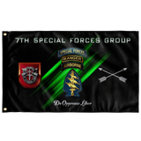 "7th Special Forces Group Tabbed Flag Elite Flags Wall Flag - 36""x60"""