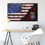 "82nd Airborne Tabbed Stars & Stripes Flag Elite Flags Wall Flag - 36""x60"""