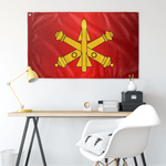 "Air Defense Artillery Badge Flag Elite Flags Wall Flag - 36""x60"""