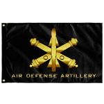 "Air Defense Artillery Black Flag Elite Flags Wall Flag - 36""x60"""