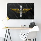 "Army Aviation Metallic Black Flag Elite Flags Wall Flag - 36""x60"""