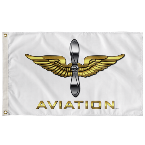 "Army Aviation White Flag Elite Flags Wall Flag - 36""x60"""