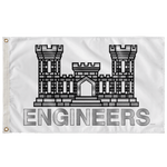 "Army Engineers White Flag Elite Flags Wall Flag - 36""x60"""