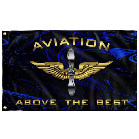 "Aviation Above the Best Flag Elite Flags Wall Flag - 36""x60"""