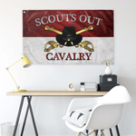 "Cavalry Officer Stetson Scouts Out Flag Elite Flags Wall Flag - 36""x60"""