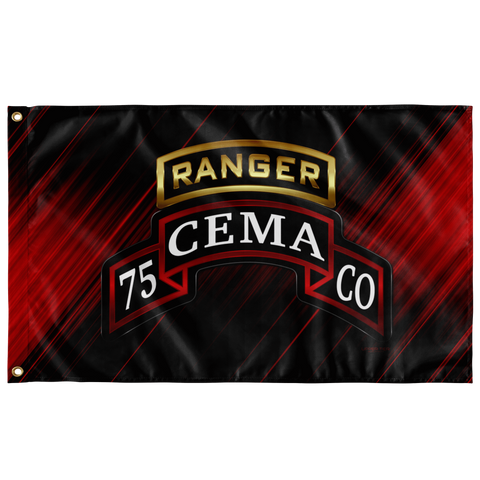 "CEMA Tabbed Scroll 75th Ranger Regiment Flag Elite Flags Wall Flag - 36""x60"""