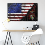 "CEMA Tabbed Scroll with Crest 75th Stars & Stripes Flag Elite Flags Wall Flag - 36""x60"""