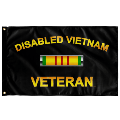 "Disabled Vietnam Badge Flag Elite Flags Wall Flag - 36""x60"""
