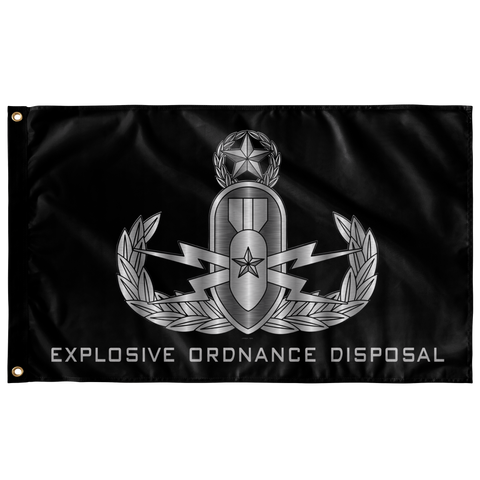 "EOD (Master) Black Flag Elite Flags Wall Flag - 36""x60"""