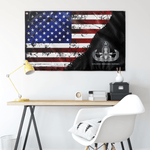 "EOD (Master) Stars & Stripes Black Flag Elite Flags Wall Flag - 36""x60"""