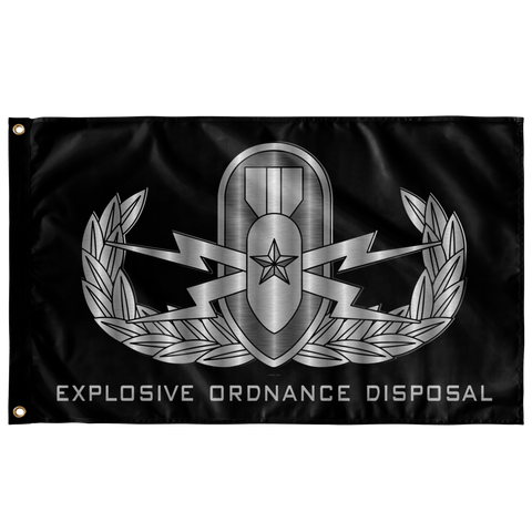 "EOD (Senior) Black Flag Elite Flags Wall Flag - 36""x60"""