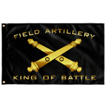"Field Artillery King of Battle Black Flag Elite Flags Wall Flag - 36""x60"""