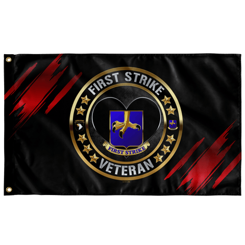 "First Strike Veteran Flag Elite Flags Wall Flag - 36""x60"""