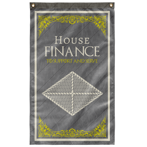 "House Finance Flag Elite Flags Wall Flag - 36""x60"""