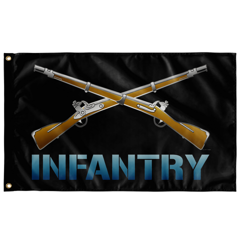 "Infantry Crossed Rifles Flag (AZ 10) Elite Flags Wall Flag - 36""x60"""