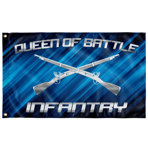"Infantry Queen of Battle V2 Flag Elite Flags Wall Flag - 36""x60"""