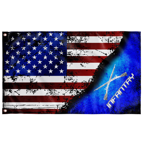"Infantry Stars & Stripes Flag Elite Flags Wall Flag - 36""x60"""