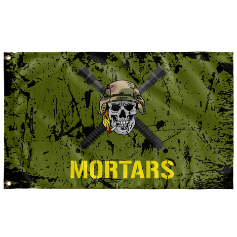 "Mortars Skull Flag Elite Flags Wall Flag - 36""x60"""
