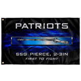 "Patriots 2-3 Infantry EIB Flag Elite Flags Wall Flag - 36""x60"""