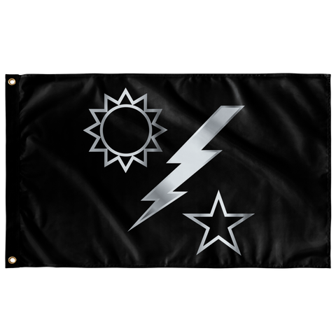 "Ranger Regiment Silver DUI flag Elite Flags Wall Flag - 36""x60"""