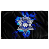 "Retired Fort Wayne Police Flag Elite Flags Wall Flag - 36""x60"""