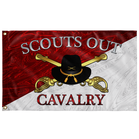 "Scouts Out Cavalry Flag (AZ 07) Elite Flags Wall Flag - 36""x60"""