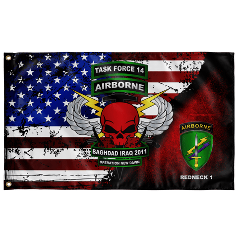 "Task Force 14 Outdoor Flag Elite Flags Wall Flag - 36""x60"""