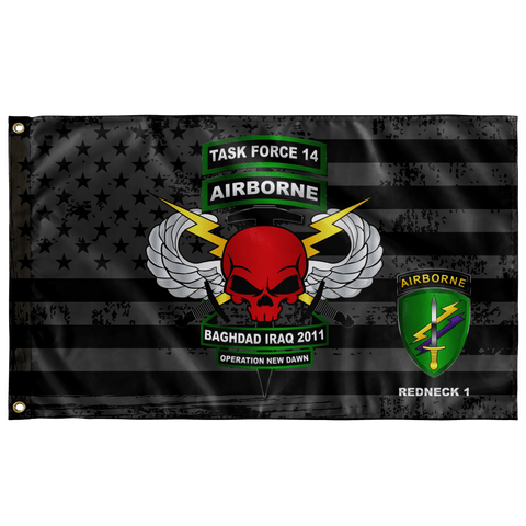 "Task Force 14 Subdued Outdoor Flag Elite Flags Wall Flag - 36""x60"""