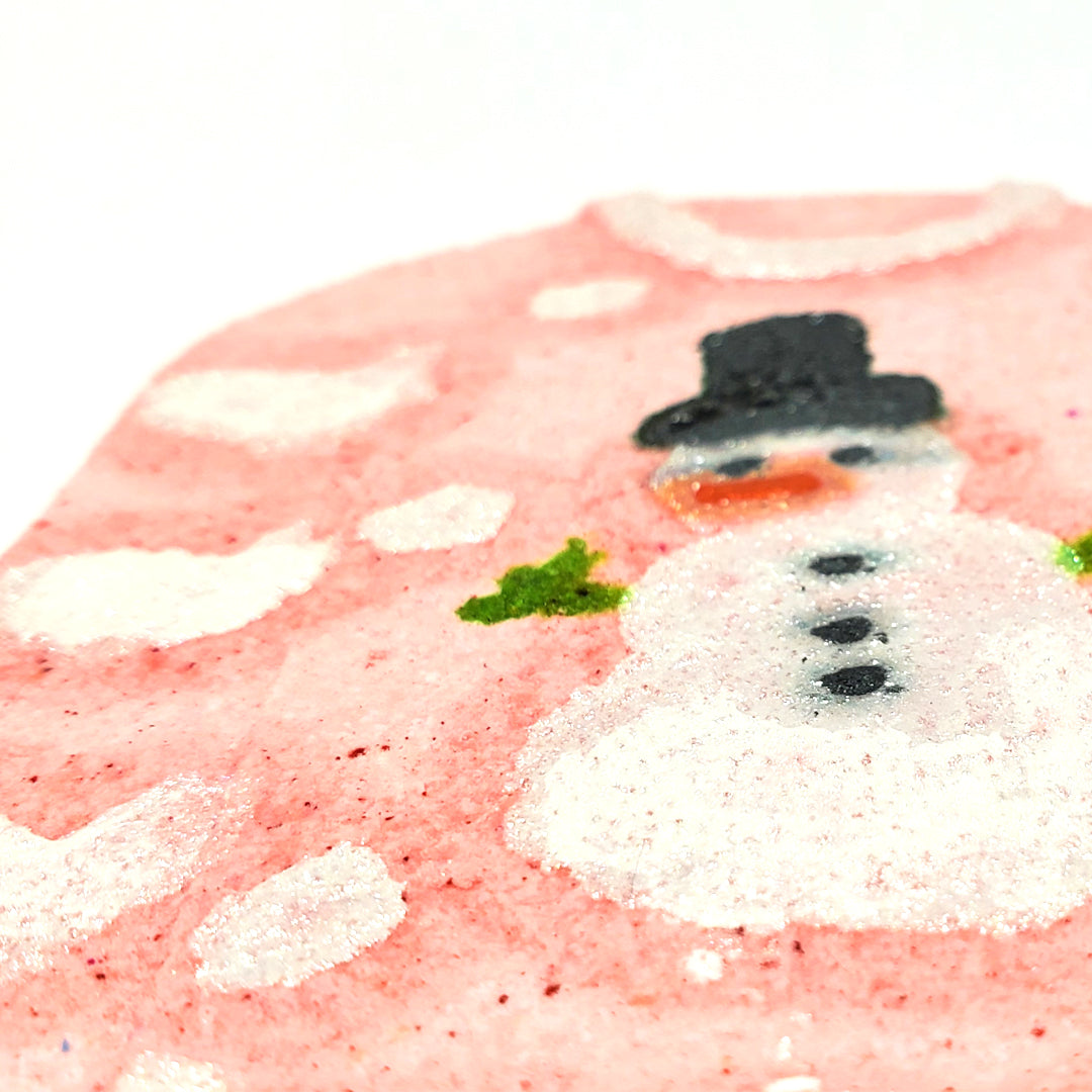 Snowman ugly sweater bath bomb