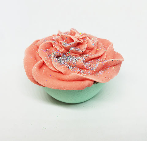 Winter Mint Cupcake Bath Bomb