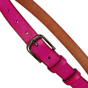 Rose Embossed Leather Belt - Ride Proud Clothing