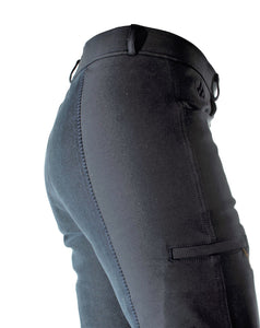 Bootleg Jodhpur Riding Pants, Trail Style, Back Detail