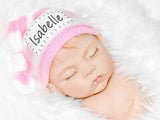 Striped Knotted Personalized Baby Hat