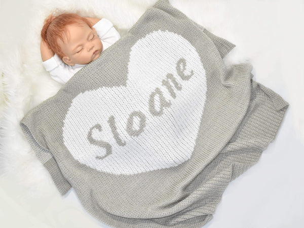 gugagii Baby Blankets Heart Custom Baby Blanket Personalized With Name
