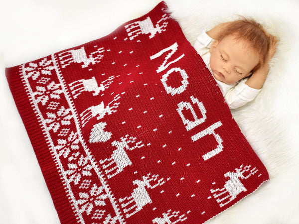 gugagii Custom Baby Blankets Personalized Baby Christmas Blankets With Name