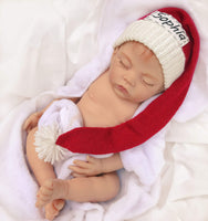 gugagii First Christmass Two Personalized Hats For Baby Twins' First Christmas