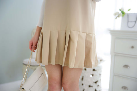 Audrey Plain Pleated Dress