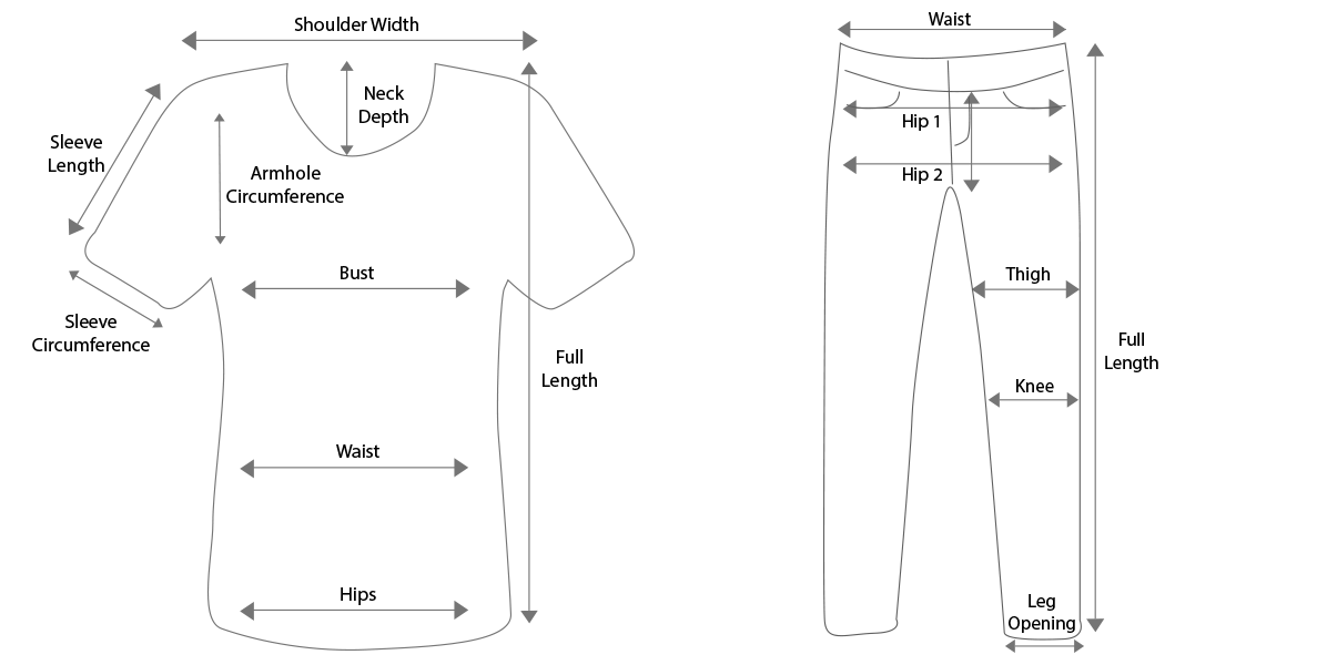 Basic Tops & Pants Guidelines