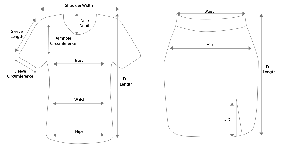 Basic Tops & Skirts Guidelines
