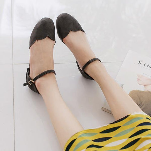 Heraposh  Flats 235 / Black Ashley Flat Shoes HP-S000010