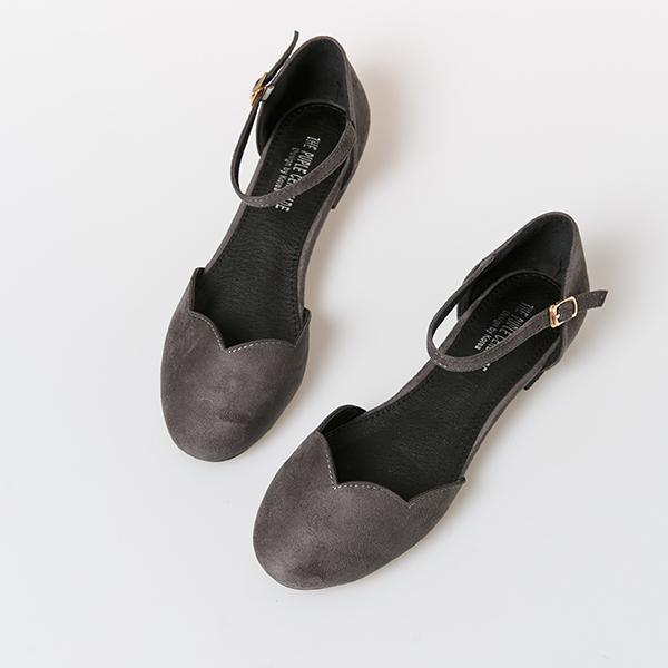 Heraposh  Flats 230 / Grey Ashley Flat Shoes HP-S000010